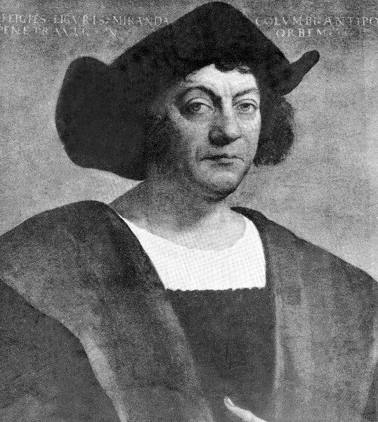 """1492: Christoph Columbus landet bei seinemVersuch den Seeweg nach Indien zu entdecken in Amerika. Sein Schiff, die """"Santa Maria"""", wurde damals noch ausschließlich mit erneuerbarer Energie angetrieben."""