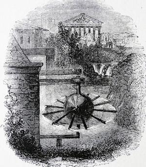 Um 50 n. Chr. entwirft der griechische Physiker Heron von Alexandria eine umlaufende Dampfmaschine, die sogenannte Dampfkugel.